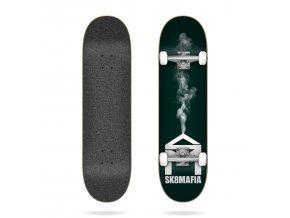 sk8mafia house logo smoke 7 87 complete skateboard