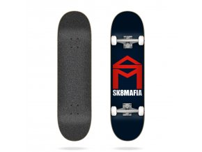 sk8mafia house logo navy 7 87 complete skateboard