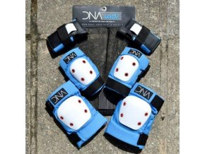 dna protection kids full pad set blue elbow fresh goods knee grind supply co sports gear 190