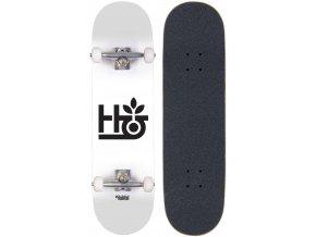 habitat pod complete skateboard white black bottom and top