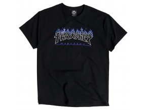 Thrasher Godzilla Charred Logo T Shirt Black 1