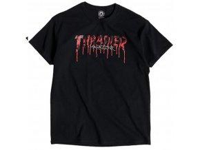 Thrasher Blood drip logo tee black