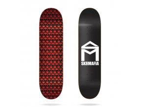 product s k sk8mafia house logo black 8 skateboard deck