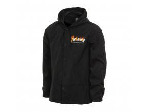 Thrasher flame mag coach jacket black 1024x1024