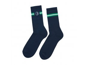 POLAR SKATE CO. STROKE LOGO SOCKS NAVY