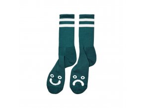 HAPPY SAD SOCKS DARK GREEN