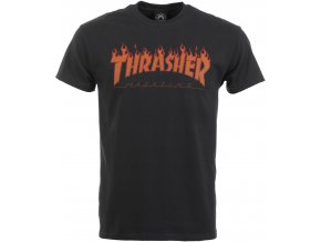 thrasher flame halftone t shirt black