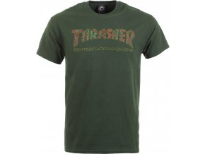 thrasher davis t shirt forest green