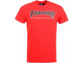 thrasher outlined t shirt red