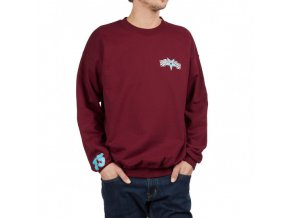 THRASHER RACING CREWNECK MAROON