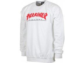 thrasher godzilla crew sweatshirt white