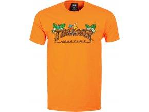 thrasher tiki t shirt safety orange
