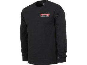 thrasher embroidered outlined l s t shirt black