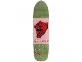 rd welcome skateboards tasmanian angel deck pink olive
