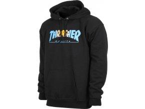 thrasher argentina hoodie black