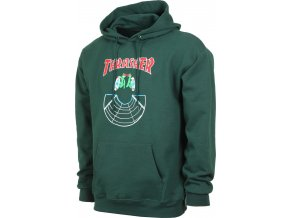 thrasher doubles hoodie forest