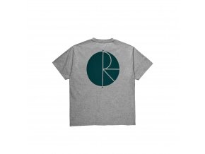 POLAR SKATE CO. FILL LOGO TEE HEATHER GREY