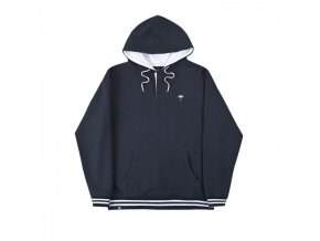 buttoned hoodie navy