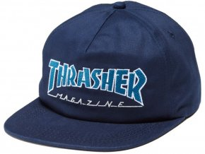 9635 thrasher outlined navy gray snapback