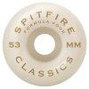 spitfire formula four embers conical full 99du black orange wheels 53mm set
