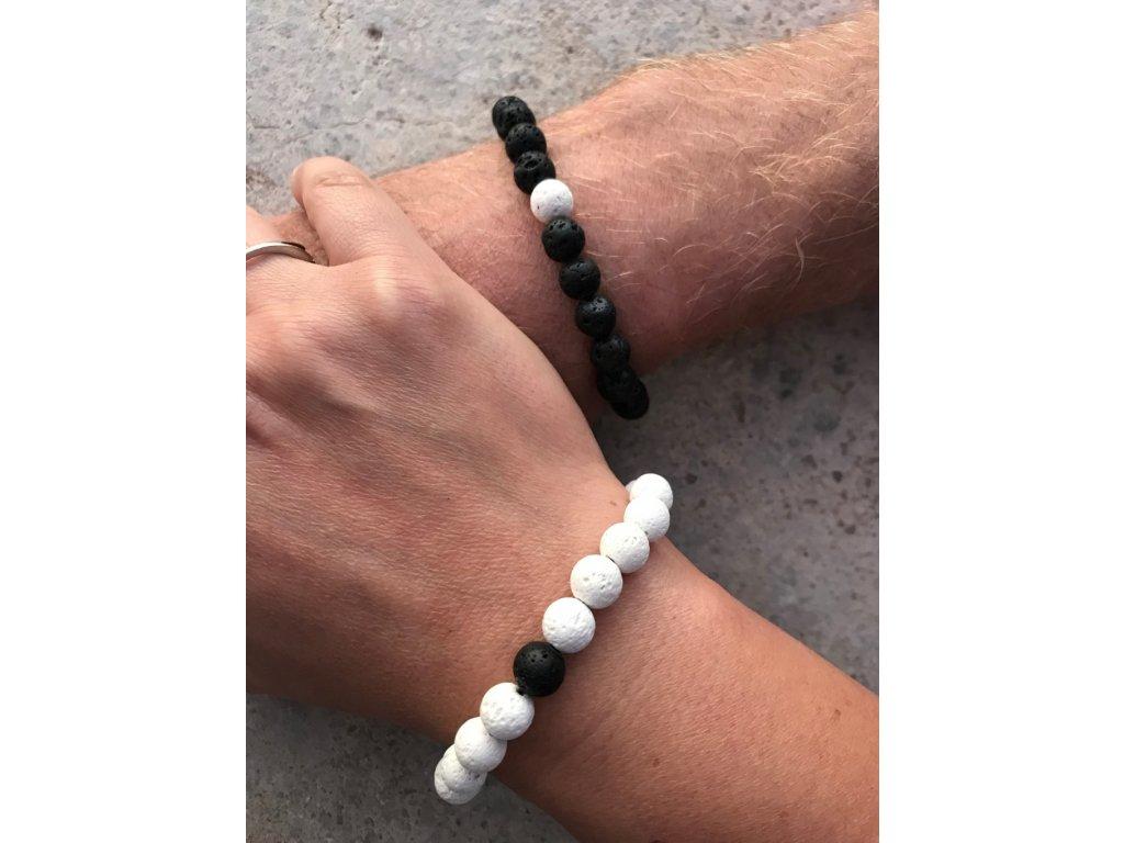 Partnerský náramek - Láva black & white
