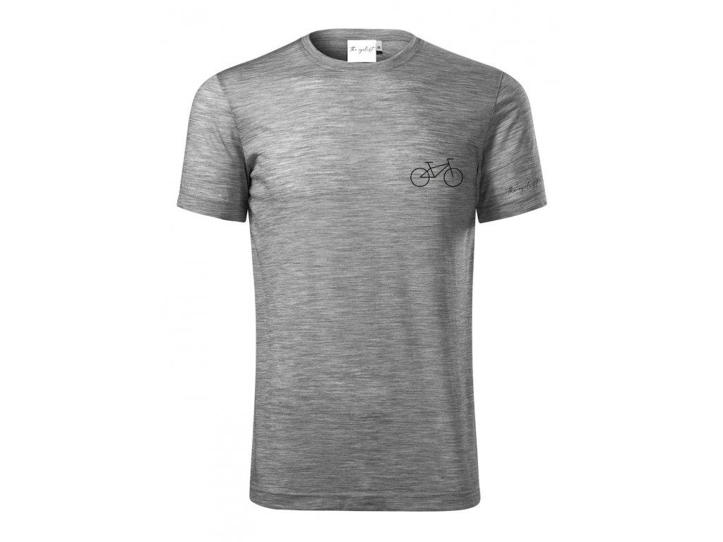 Merino tričko pánské šedá - Kolo