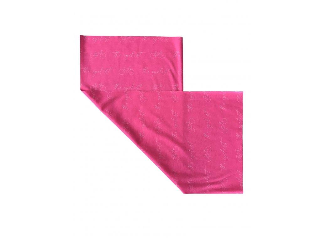 Multifunkční šátek The cyclist - růžový