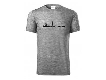 Merino tričko pánské šedá - EKG