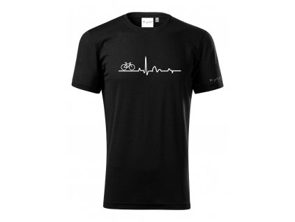Merino tričko pánské černá - EKG
