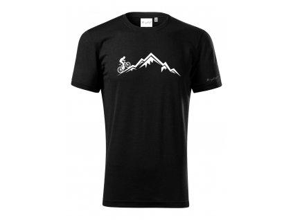 Merino tričko pánské černá - Hora
