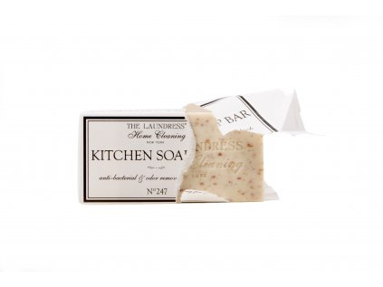 The Laundress Kitchen Soap Bar unwrapped