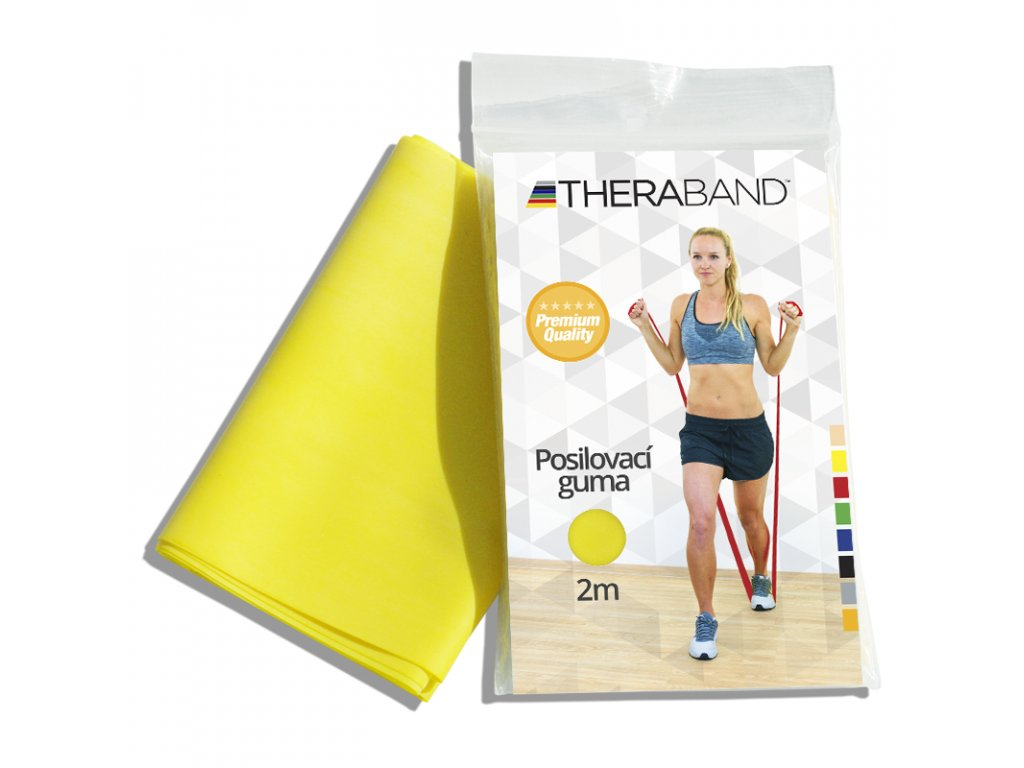 Posilovací guma Thera Band, 2m, žlutá slabá
