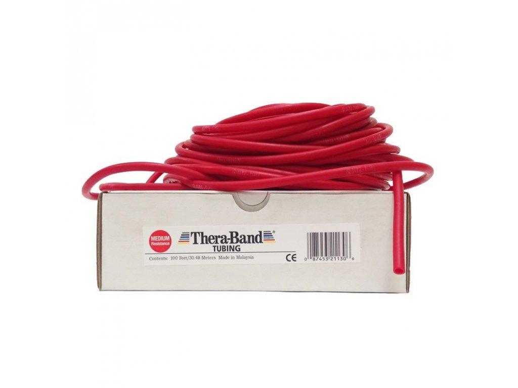 Thera-Band Tubing 30,5 m, červená, středně silná