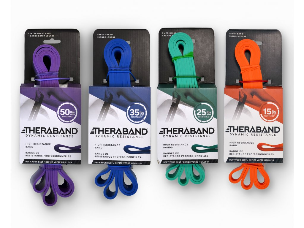 Thera-Band High Resistance Bands, set odporových gum