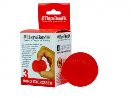 Thera-Band Hand Exerciser - posilovač rukou gelová kulička, červená - měkká