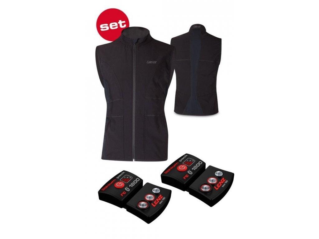 LENZ vyhřívaná vesta - pánská - Heat vest 1.0 - bluetooth