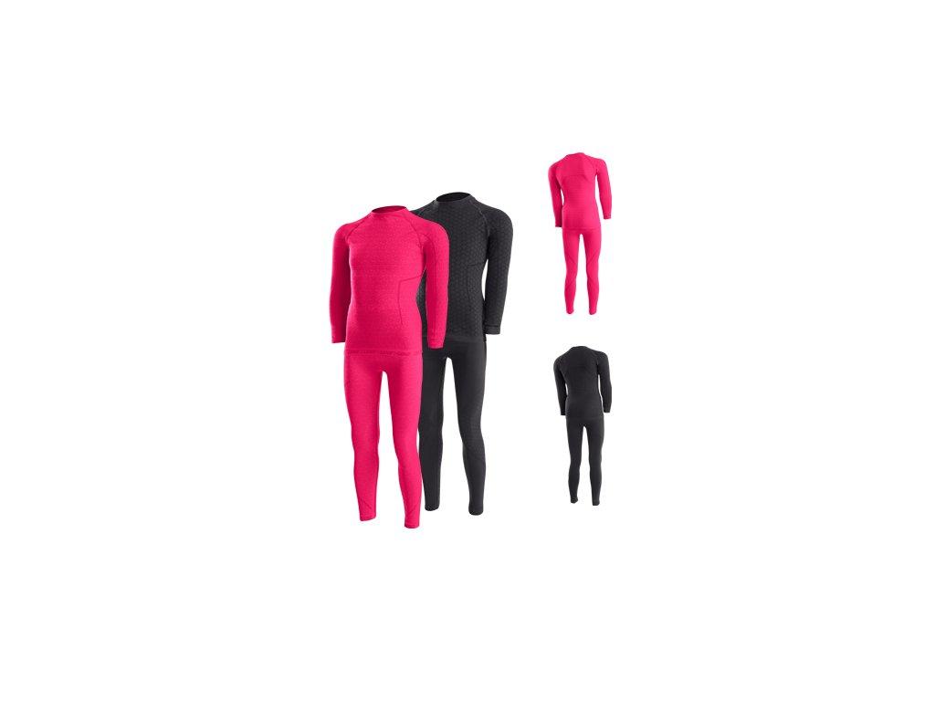 LENZ dětské funkční prádlo - set - černý