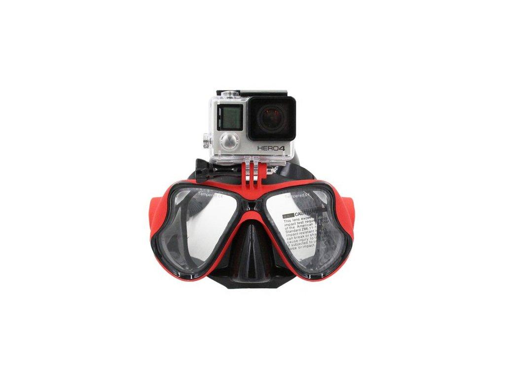 Potápěčské brýle s držákem pro kameru GoPro