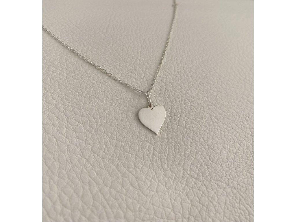 řetízek srdce stříbro