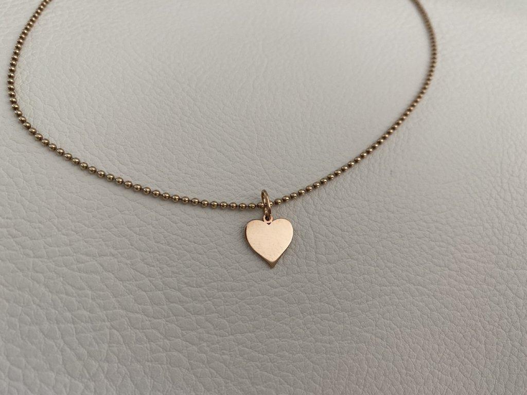 řetízek srdce zlato