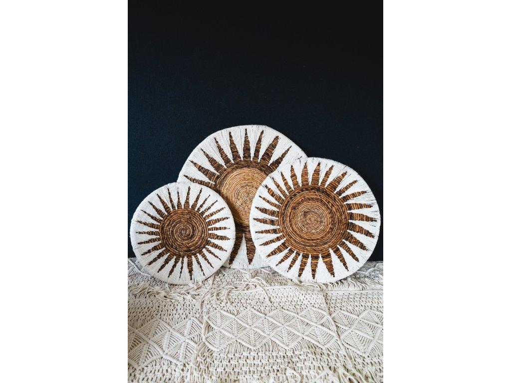 Dekorativní mísa - barevné provedení přírodní/bílá - set 3 ks - typ 1