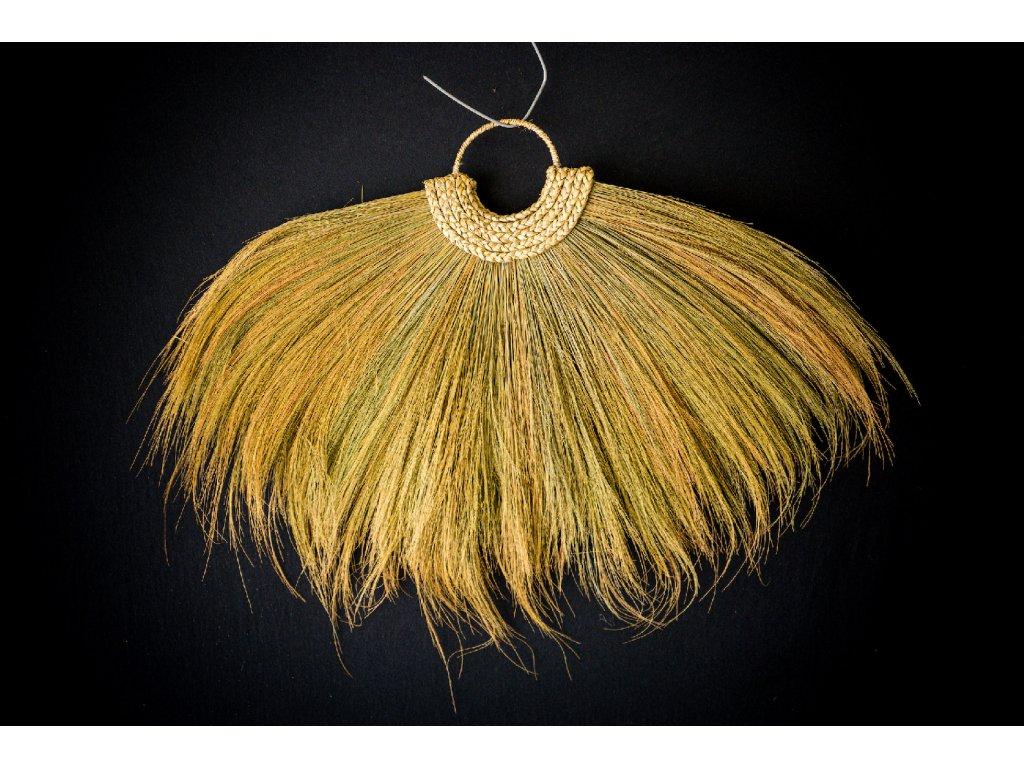 Tradiční závěsný balijský náhrdelník - tráva