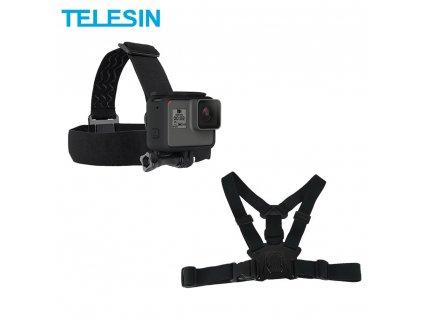 TELESIN Chest Belt Head Strap Mount for GoPro Hero 8 7 6 Hero 5 4 3