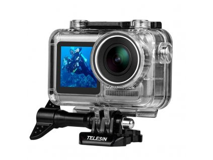 TELESIN 40M Diving Waterproof Housing Case Transparent Acrylic Shell Cover For DJI Osmo Action Sport Camera.jpg q50