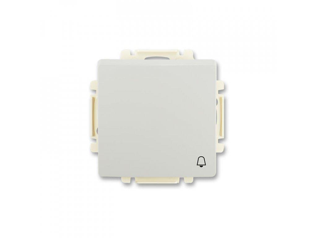 abb 3557g a80343 s1 ovladac tlacitkovy zapinaci, s krytem, se symbolem zvonku, raz. 1 0, svetle seda large greybox
