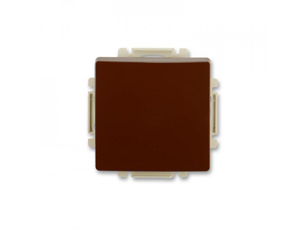 abb 3557g a80340 h1 ovladac tlacitkovy zapinaci, razeni 1 0, s krytem, hneda large greybox