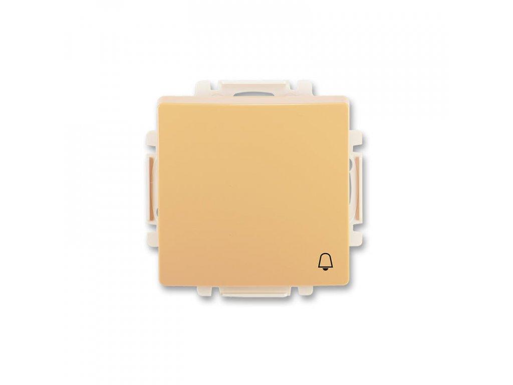 abb 3557g a80343 d1 ovladac tlacitkovy zapinaci, s krytem, se symbolem zvonku, raz. 1 0, bezova large greybox