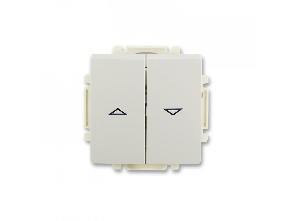 abb 3557g a88340 s1 ovladac zaluziovy jednopolovy 1 0 1 0 s blokovanim , s krytem, svetle seda large greybox