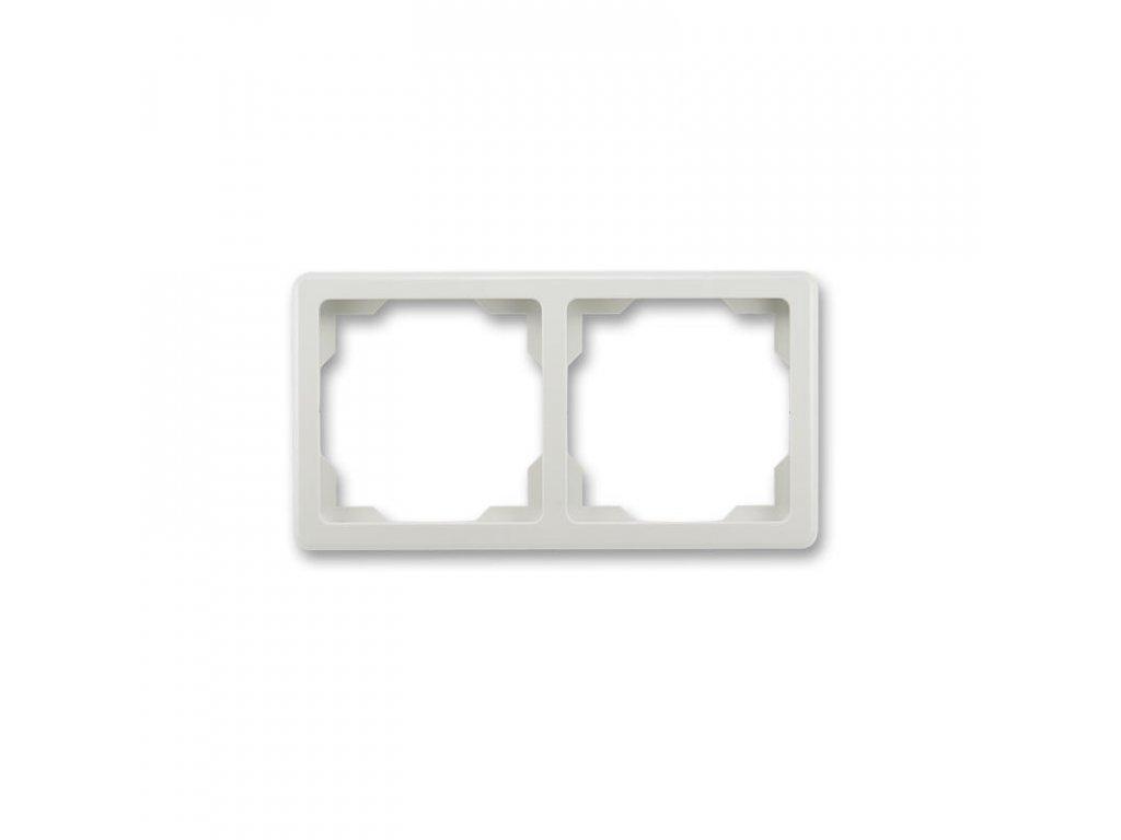 abb 3901g a00020 s1 ramecek dvojnasobny, pro vodorovnou i svislou montaz, svetle seda large greybox