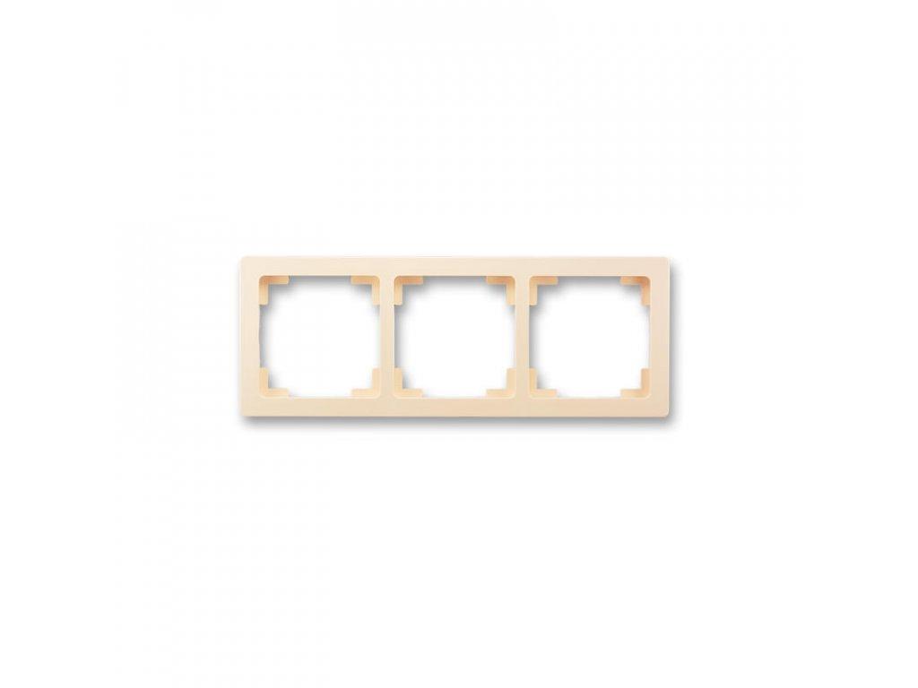 abb 3901j a00030 c1 ramecek trojnasobny, pro vodorovnou i svislou montaz, kremova large greybox